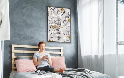 Designerski plakat do sypialni