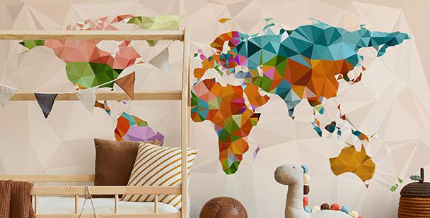 Dziecięca fototapeta mapa świata