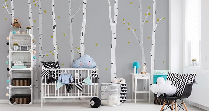 Dziecięca fototapeta z drzewami