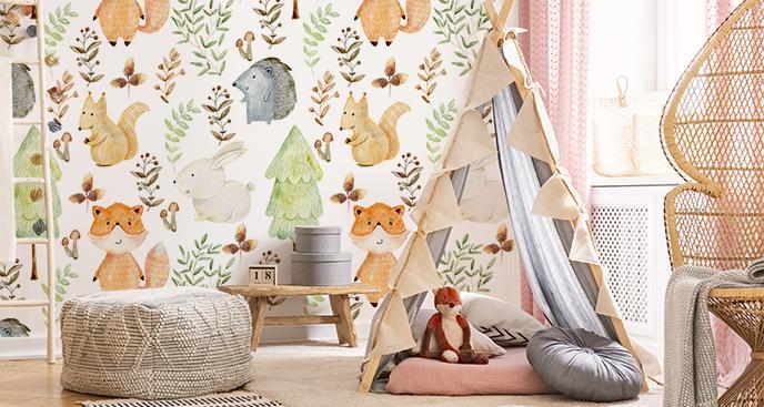 Dziecięca tapeta las