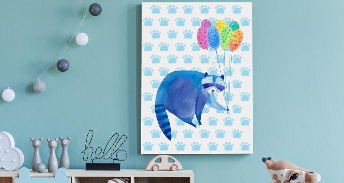 Dziecięcy obraz szop i balony