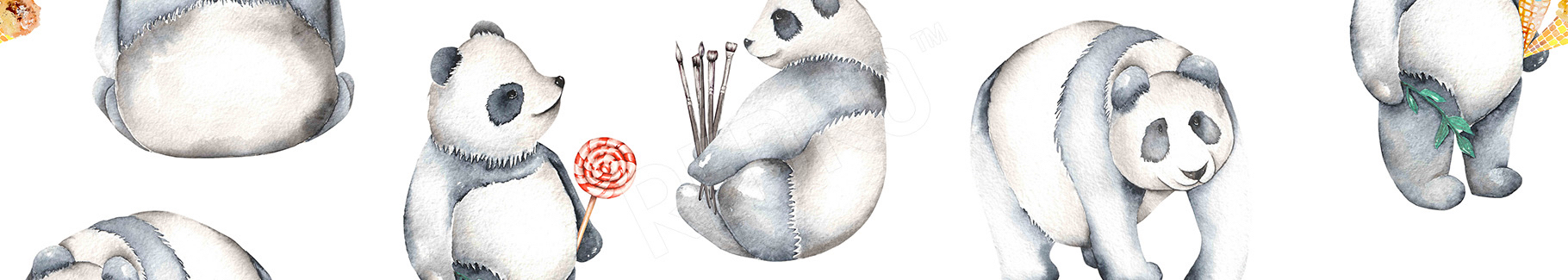 Dziecięcy plakat w pandy