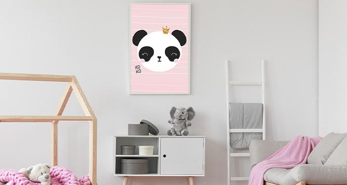 Dziewczęcy plakat z pandą