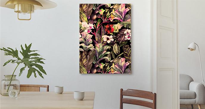 Egzotyczny obraz kwiaty