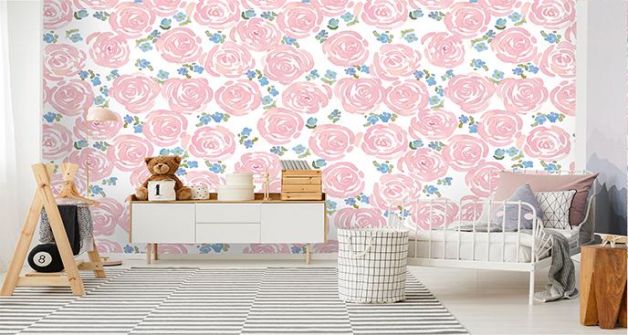 Floralna fototapeta do pokoju dziecka