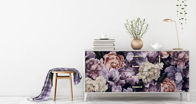 Floralna naklejka na komodę