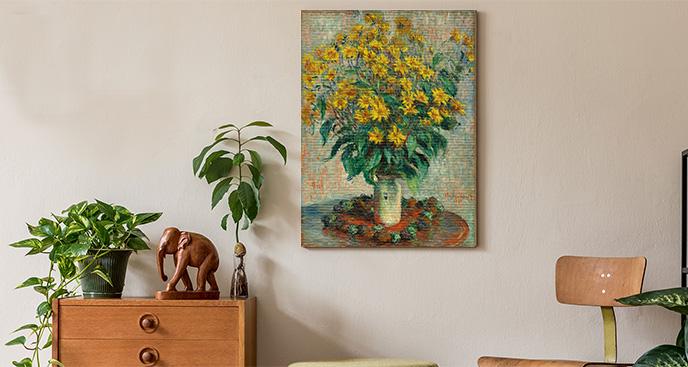 Floralny obraz impresjonizm