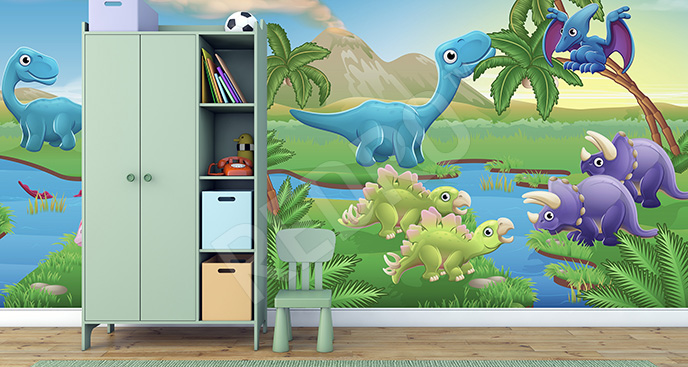 Fototapeta 3d dla dzieci dinozaury