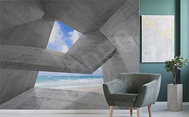Fototapeta 3D widok na morze