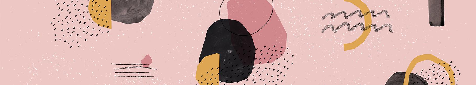 Fototapeta abstrakcyjna kompozycja na różowym tle