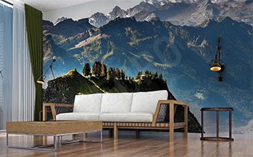 Fototapeta alpejski pejzaż 3D