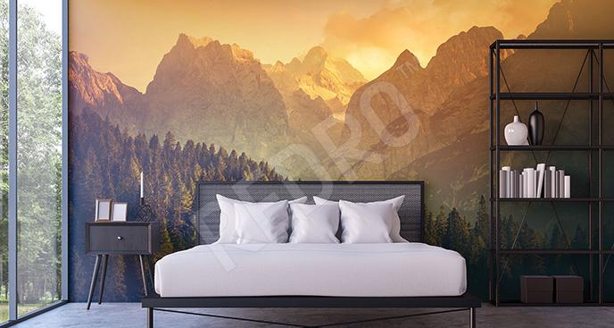 Fototapeta Alpy o zachodzie słońca