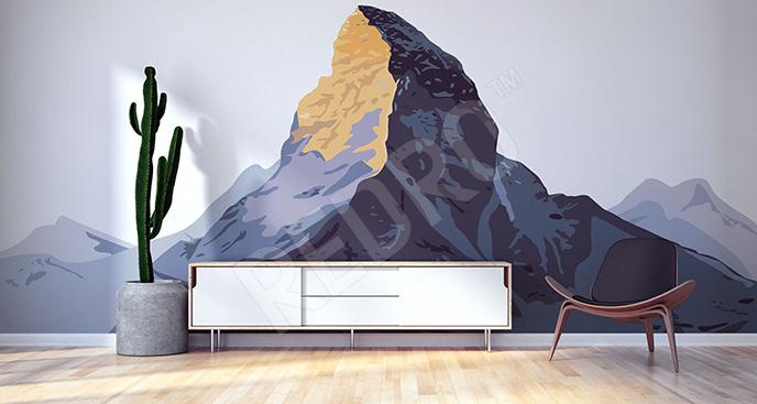 Fototapeta Alpy rysunkowe
