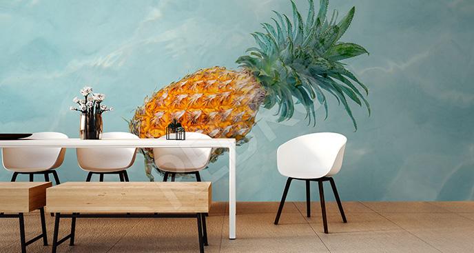 Fototapeta ananas akwarela