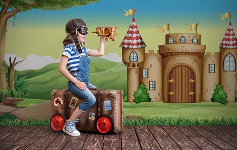 Fototapeta bajkowy zamek dla dzieci