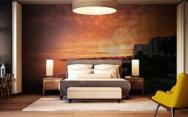 Fototapeta barwy zachodzącego słońca