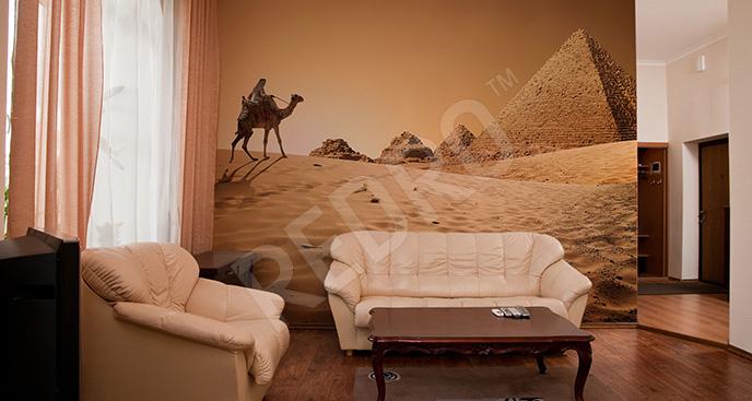 Fototapeta beduin na wielbłądzie