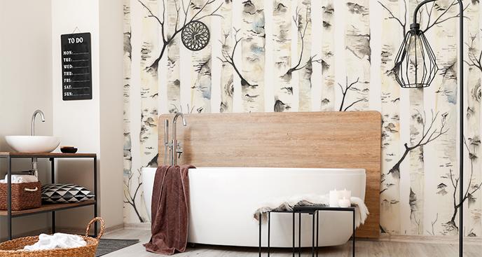 Fototapeta białe drzewa