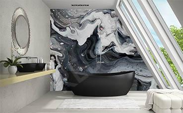 Fototapeta biało-czarny marmur