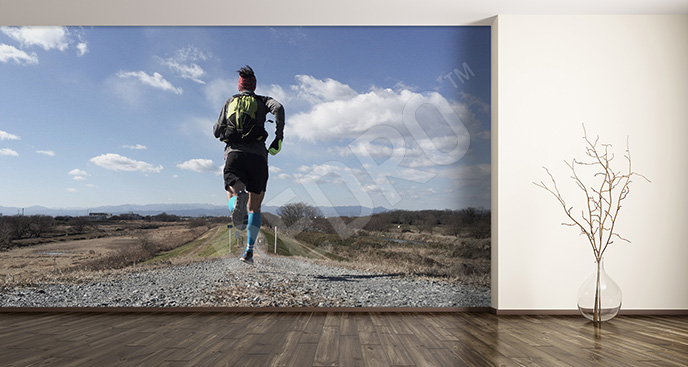 Fototapeta bieganie - do kubu fitness