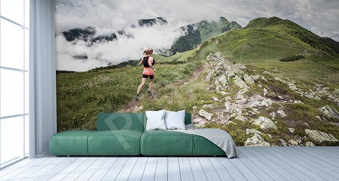 Fototapeta bieganie w górach