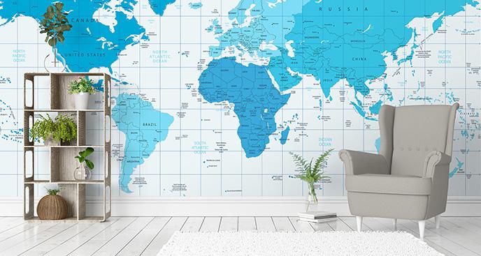 Fototapeta błękitne kontynenty