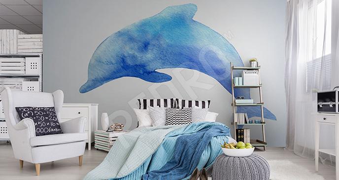 Fototapeta błękitny delfin
