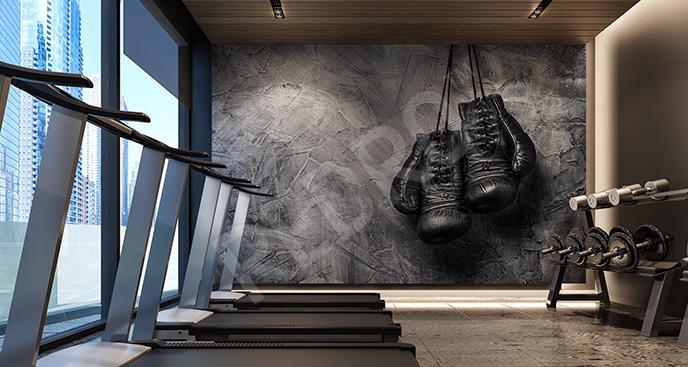 Fototapeta bokserska do fitness klubu