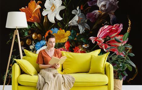 Fototapeta bukiet kwiatów do salonu