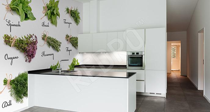 Fototapeta bukiet ziół do kuchni