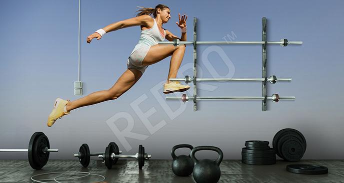 Fototapeta ćwicząca kobieta