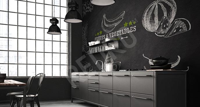 Fototapeta czarno-biała do kuchni