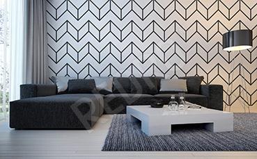 Fototapeta czarno-biała geometria