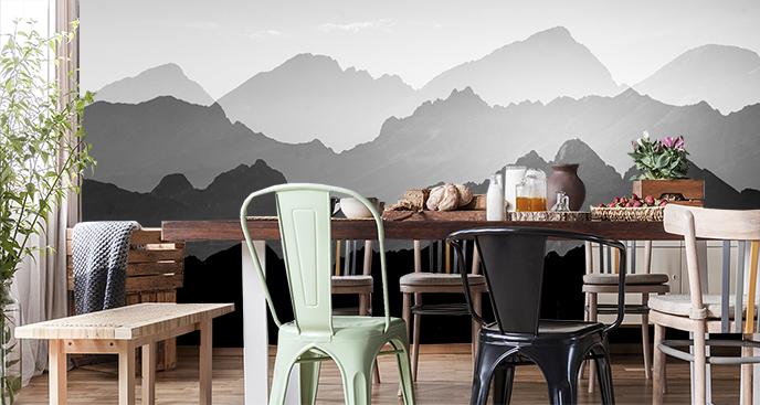 Fototapeta czarno-biała: góry