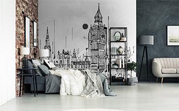 Fototapeta czarno-biały Big Ben