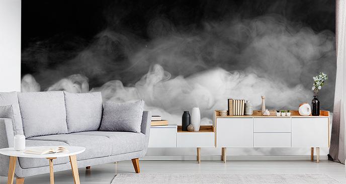 Fototapeta czarno-biały dym