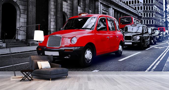 Fototapeta czerwona taksówka