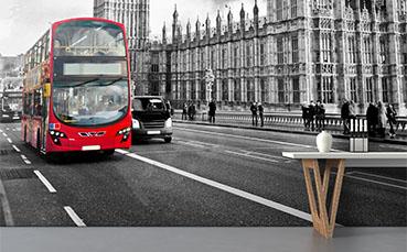 Fototapeta czerwony autobus w Londynie