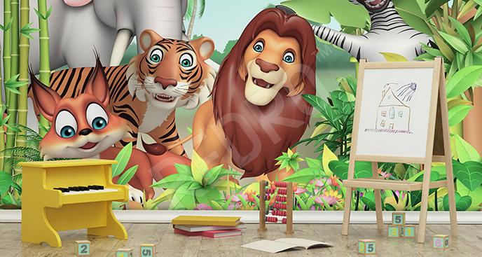 Fototapeta dla dzieci 3d dżungla