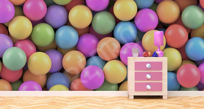 Fototapeta dla dzieci 3d kulki