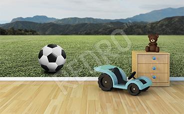 Fototapeta dla dzieci 3d piłka nożna