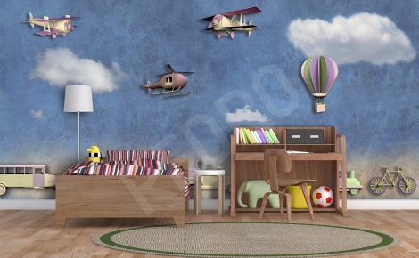 Fototapeta dla dzieci 3d pojazdy