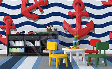 Fototapeta dla dzieci 3d styl marynarski