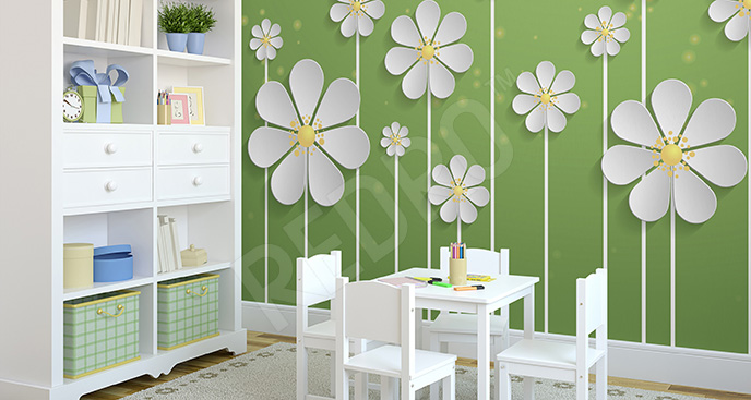 Fototapeta dla dzieci wiosenne kwiaty