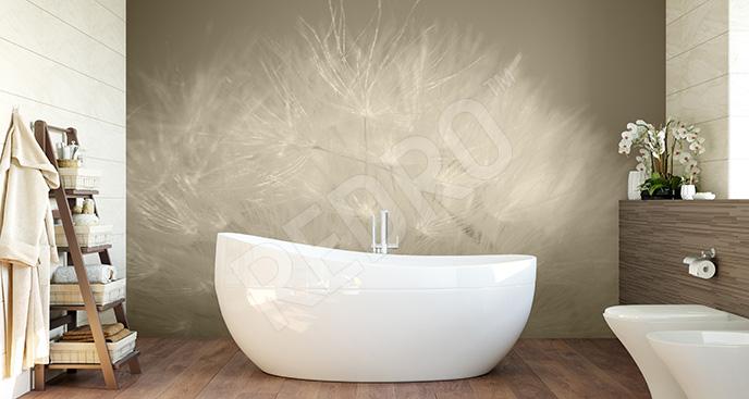 Fototapeta dmuchawiec sepia do łazienki