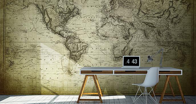 Fototapeta do biura mapa vintage