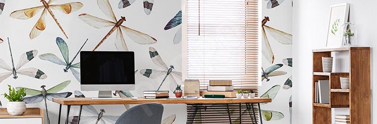 Fototapeta do biura z ważkami