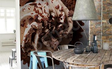 Fototapeta do kawiarni czekoladowa babeczka