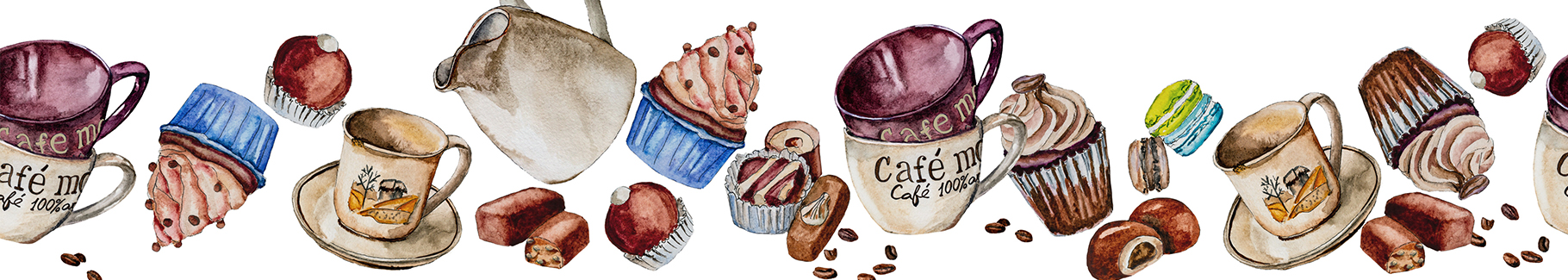 Fototapeta do kawiarni: słodycze