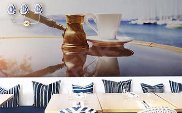 Fototapeta do kawiarni tygielek i filiżanka